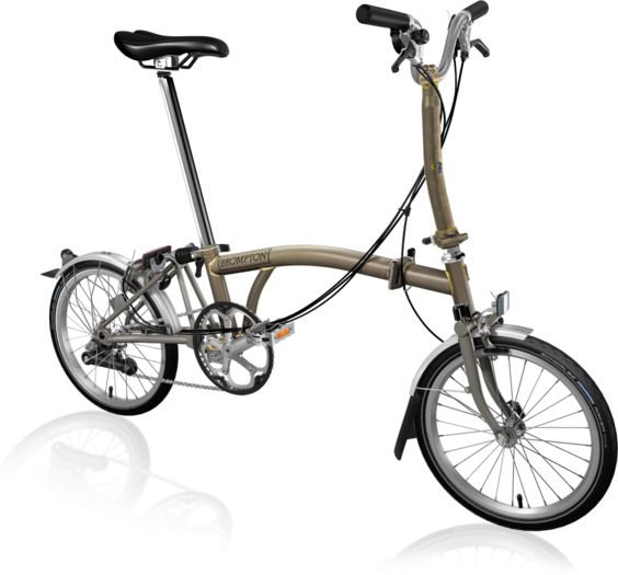 BROMPTON M6L Superlight Titanium Raw Lacquer click to zoom image
