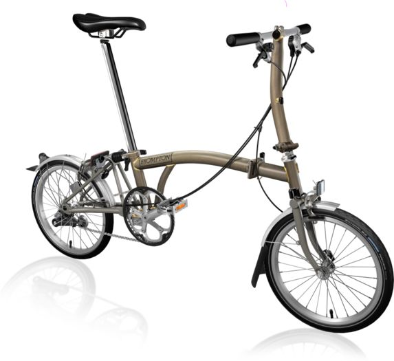 BROMPTON S3L Superlight Titanium Raw Lacquer click to zoom image