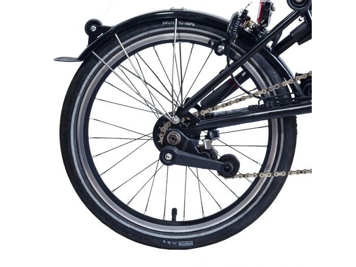 BROMPTON Black Edition 3 speed rear wheel with Brompton Wide Range hub click to zoom image