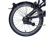 BROMPTON Black Edition 3 speed rear wheel with Brompton Wide Range hub