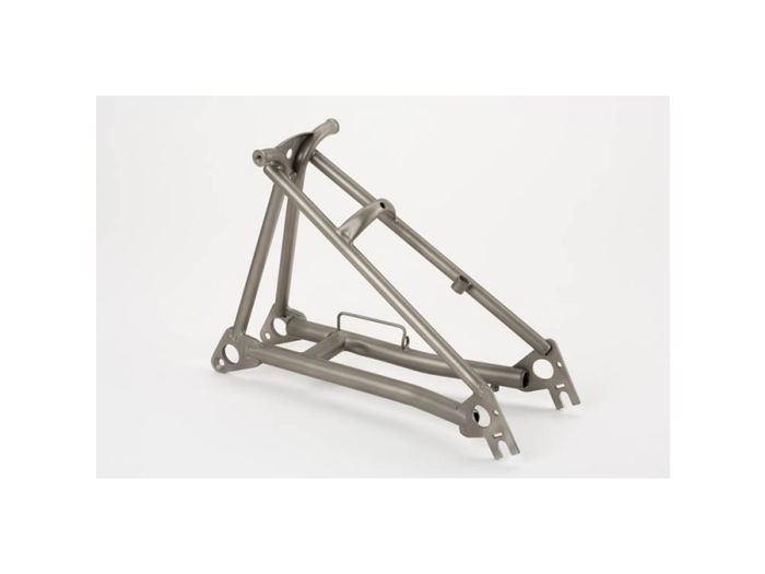 BROMPTON Rear Frame, Titanium (Raw Finish) click to zoom image