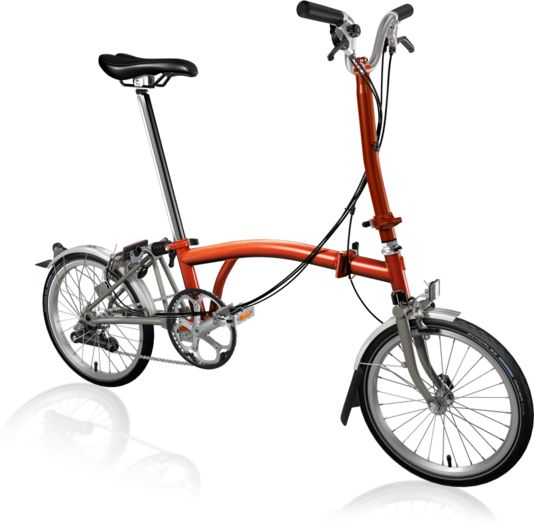 BROMPTON H6L Superlight Titanium Flame Lacquer click to zoom image