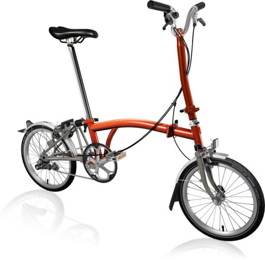 BROMPTON H3L Superlight Titanium Flame Lacquer click to zoom image