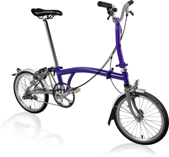 BROMPTON M3L Superlight Titanium Purple Metallic click to zoom image