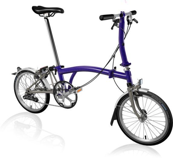 BROMPTON S2L Superlight Titanium Purple Metallic click to zoom image