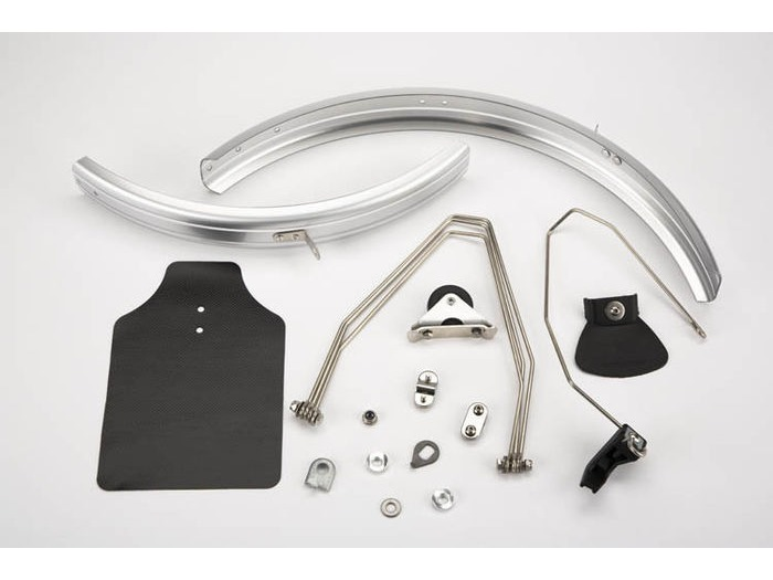 BROMPTON Mudguard set, for L version, includes steel stays click to zoom image