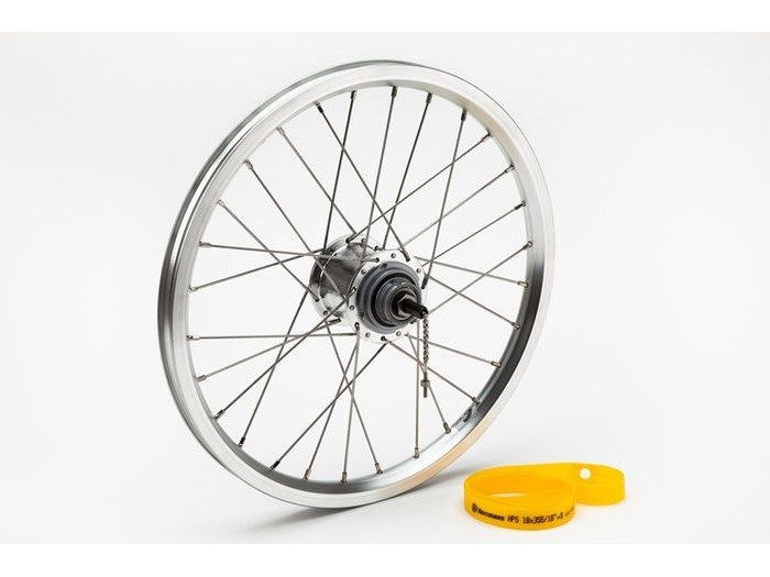 BROMPTON 3 speed rear wheel with Sturmey hub click to zoom image