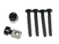 ALTURA SCREW & NIPPLE SET FOR H/BAR ADAPTER FOR ARRAN/SKYE/ORKNEY BAR BAGS WITH RED Q/R BUTTON