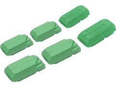 Kool Stop Tectronic V Type Replacement Inserts Green (Ceramic)