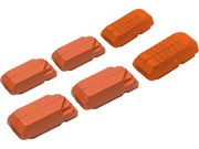 Kool Stop Tectronic V Type Replacement Inserts Salmon (Wet & Muddy)