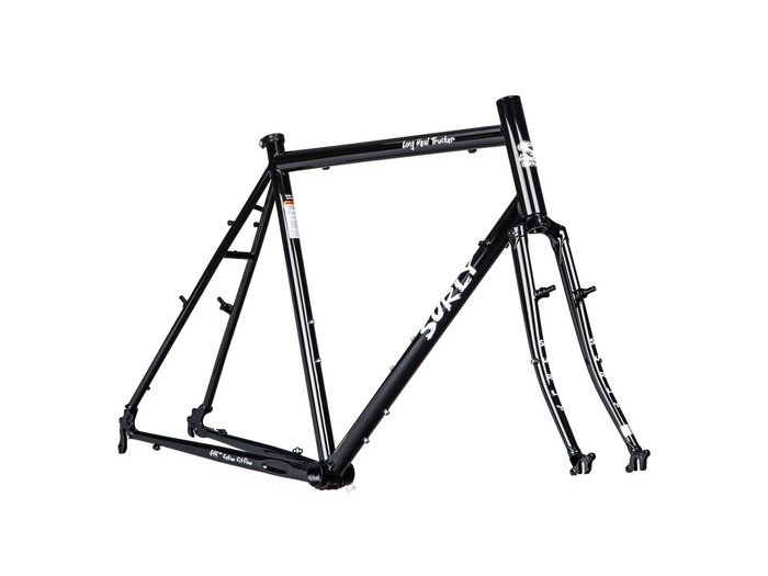 "SURLY LONG HAUL TRUCKER FRAME AND FORK 26"" 50CM BLACK click to zoom image"