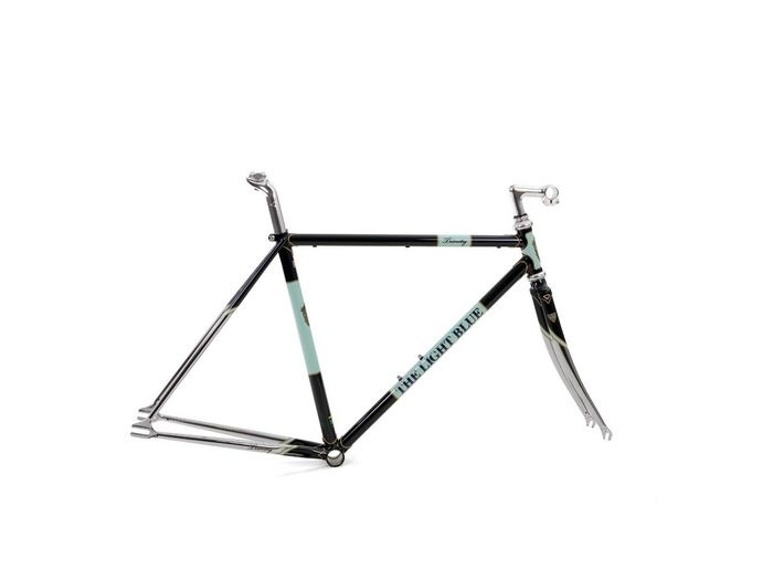 THE LIGHT BLUE Trinity Track Frameset Dark Blue click to zoom image